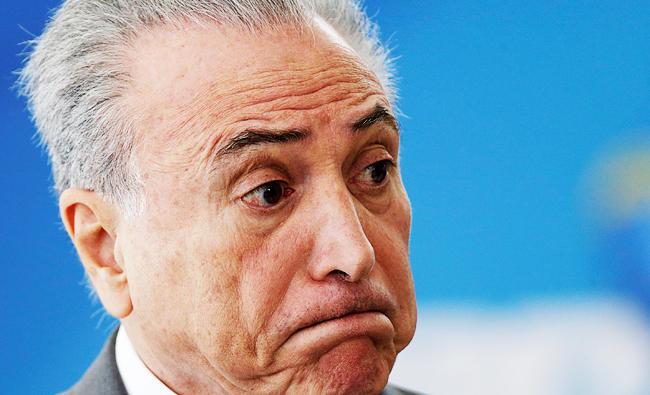 Brazil's Temer calls $40 mln Odebrecht bribe accusation 'a