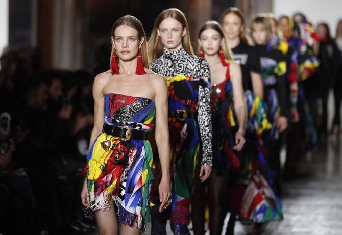 Versace rocks Milan's fashion week with loud college style | Arab ...