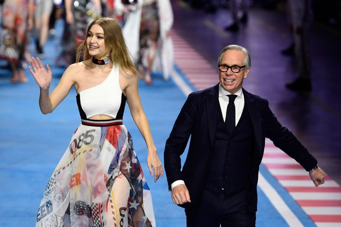 It s a family affair as Gigi Hadid shows off collaboration with Tommy  Hilfiger f0f2b0501ad