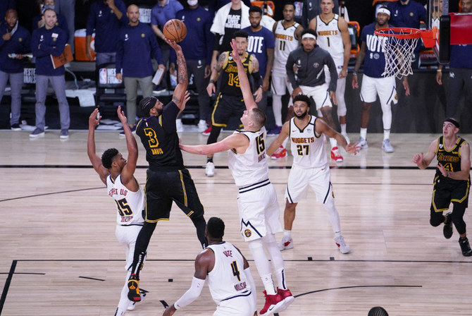 Lakers Edge Nuggets For 2 0 Lead In Nba Western Conference Finals Arab News Pk