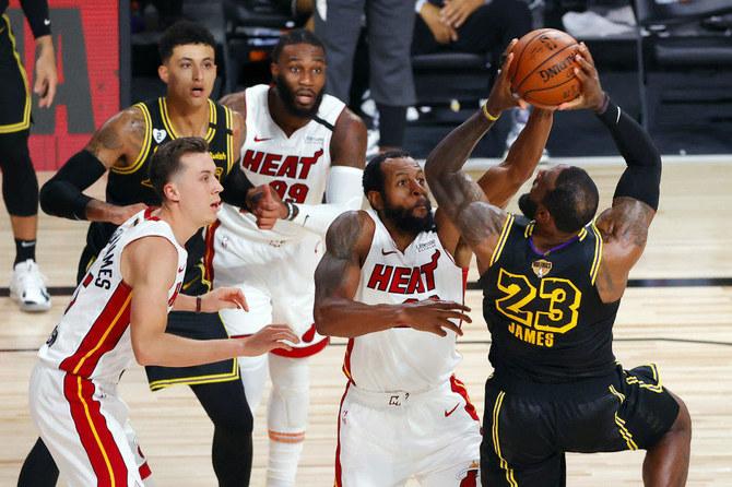 Halfway Home Lakers Top Heat For 2 0 Nba Finals Lead Arab News Pk