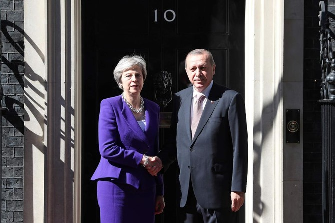 Image result for Protests break out in London as Erdogan meets Queen, May