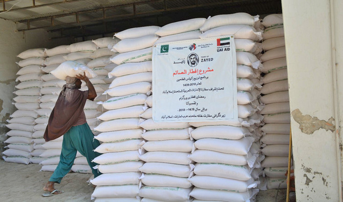 Uae Distributes 150 000 Bags Of Flour Across Pakistan Arab News Pk