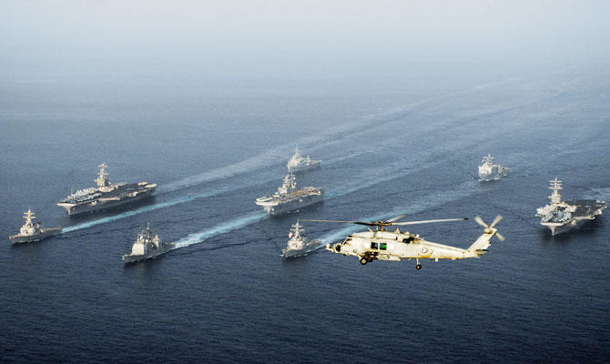 US aircraft carrier enters Arabian Gulf after long absence | Arab
