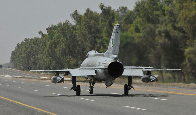 Pakistan air force conducts motorway exercise amid India